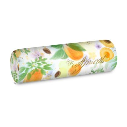 Little sun - Big Bolster Cushion - fruit design, apricots, sunny, orchard, yellow, bright, natural food, garden, hand-drawn floral, summer gift - design by Tiana Lofd
