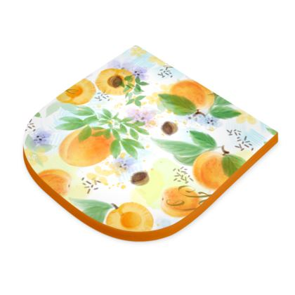 Little sun - Seat Pad - fruit design, apricots, sunny, orchard, yellow, bright, natural food, garden, hand-drawn floral, summer gift - design by Tiana Lofd
