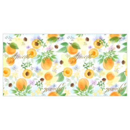 Little sun - Voile Curtains - fruit design, apricots, sunny, orchard, yellow, bright, natural food, garden, hand-drawn floral, summer gift - design by Tiana Lofd