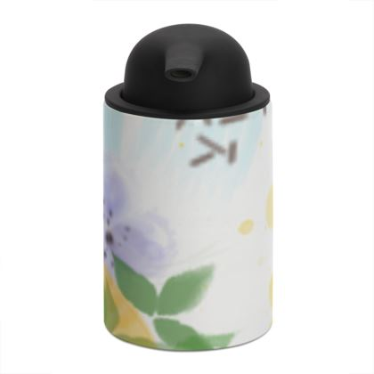 Little sun - Soap Dispenser - fruit design, apricots, sunny, orchard, yellow, bright, natural food, garden, hand-drawn floral, summer gift - design by Tiana Lofd