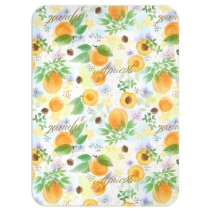 Little sun - Single Layer Blankets - fruit design, apricots, sunny, orchard, yellow, bright, natural food, garden, hand-drawn floral, summer gift - design by Tiana Lofd