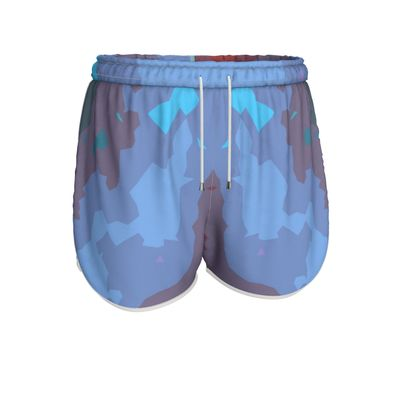 Womens Running Shorts - Abstract Colours