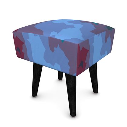 Footstool (Round, Square, Hexagonal) - Abstract Colours