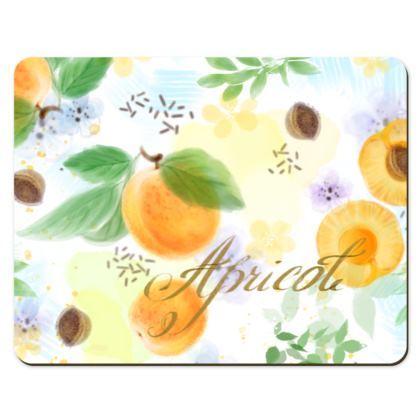 Little sun - Placemats - fruit design, apricots, sunny, orchard, yellow, bright, natural food, garden, hand-drawn floral, summer gift - design by Tiana Lofd