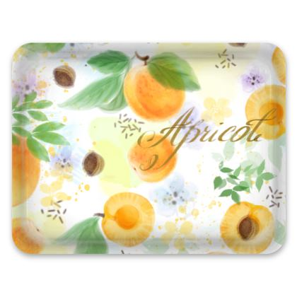 Little sun - Trays - fruit design, apricots, sunny, orchard, yellow, bright, natural food, garden, hand-drawn floral, summer gift - design by Tiana Lofd
