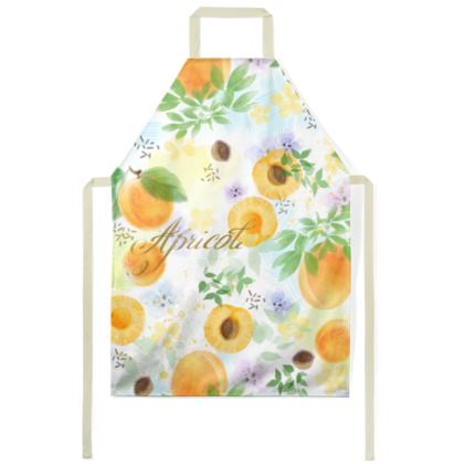Little sun - Aprons - fruit design, apricots, sunny, orchard, yellow, bright, natural food, garden, hand-drawn floral, summer gift - design by Tiana Lofd