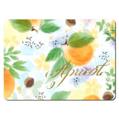 Little sun - Large Placemats - fruit design, apricots, sunny, orchard, yellow, bright, natural food, garden, hand-drawn floral, summer gift - design by Tiana Lofd