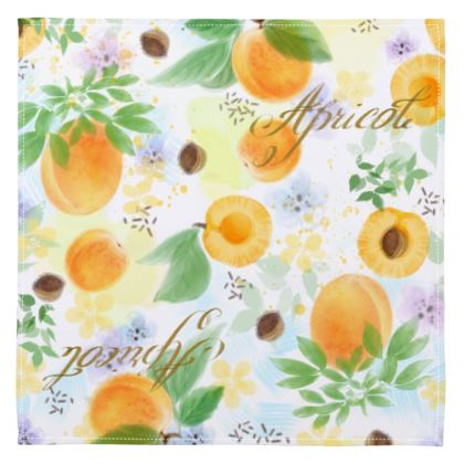 Little sun - Napkins - fruit design, apricots, sunny, orchard, yellow, bright, natural food, garden, hand-drawn floral, summer gift - design by Tiana Lofd