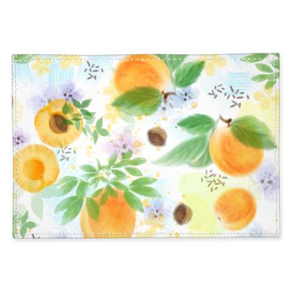 Little sun - Fabric Placemats - fruit design, apricots, sunny, orchard, yellow, bright, natural food, garden, hand-drawn floral, summer gift - design by Tiana Lofd