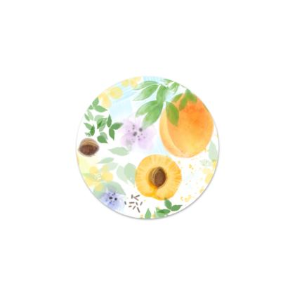 Little sun - Serving Platter - fruit design, apricots, sunny, orchard, yellow, bright, natural food, garden, hand-drawn floral, summer gift - design by Tiana Lofd