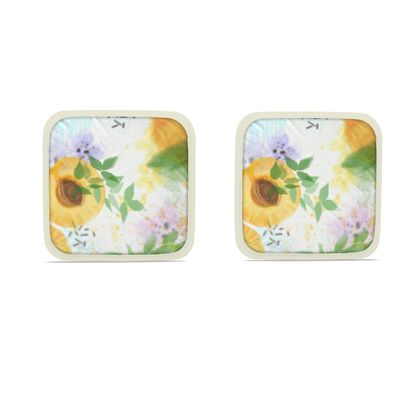 Little sun - Hot Dish Pads - fruit design, apricots, sunny, orchard, yellow, bright, natural food, garden, hand-drawn floral, summer gift - design by Tiana Lofd