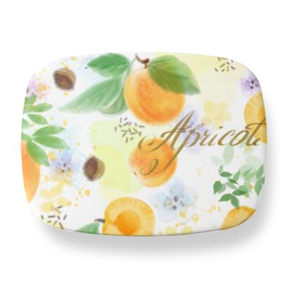 Little sun - Lunch Box - fruit design, apricots, sunny, orchard, yellow, bright, natural food, garden, hand-drawn floral, summer gift - design by Tiana Lofd