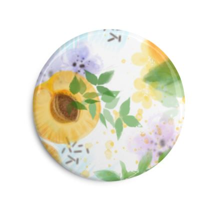 Little sun - Photo Fridge Magnet - fruit design, apricots, sunny, orchard, yellow, bright, natural food, garden, hand-drawn floral, summer gift - design by Tiana Lofd