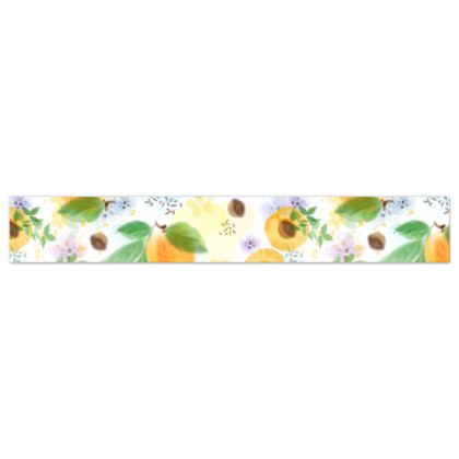 Little sun - Wallpaper Borders - fruit design, apricots, sunny, orchard, yellow, bright, natural food, garden, hand-drawn floral, summer gift - design by Tiana Lofd