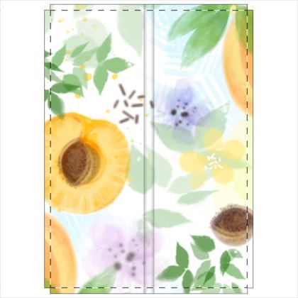Little sun - Folding Screen - fruit design, apricots, sunny, orchard, yellow, bright, natural food, garden, hand-drawn floral, summer gift - design by Tiana Lofd