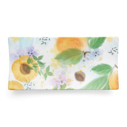 Little sun - Seder Dish  - fruit design, apricots, sunny, orchard, yellow, bright, natural food, garden, hand-drawn floral, summer gift - design by Tiana Lofd