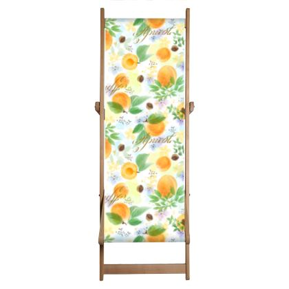 Little sun - Deckchair Sling - fruit design, apricots, sunny, orchard, yellow, bright, natural food, garden, hand-drawn floral, summer gift - design by Tiana Lofd