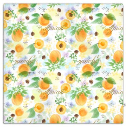Little sun - Picnic Blanket - fruit design, apricots, sunny, orchard, yellow, bright, natural food, garden, hand-drawn floral, summer gift - design by Tiana Lofd