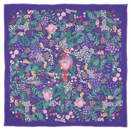 The Secret Garden - Ultra Violet Scarf Wrap or Shawl
