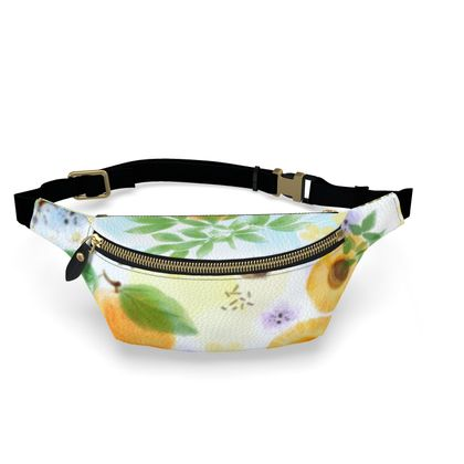Little sun - Fanny Pack - fruit design, apricots, sunny, orchard, yellow, bright, natural food, garden, hand-drawn floral, summer gift - design by Tiana Lofd