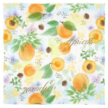 Little sun - Scarf Wrap or Shawl - fruit design, apricots, sunny, orchard, yellow, bright, natural food, garden, hand-drawn floral, summer gift - design by Tiana Lofd