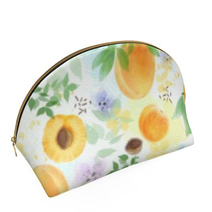 Little sun - Shell Coin Purse - fruit design, apricots, sunny, orchard, yellow, bright, natural food, garden, hand-drawn floral, summer gift - design by Tiana Lofd