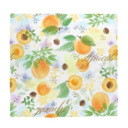 Little sun - Bandana - fruit design, apricots, sunny, orchard, yellow, bright, natural food, garden, hand-drawn floral, summer gift - design by Tiana Lofd