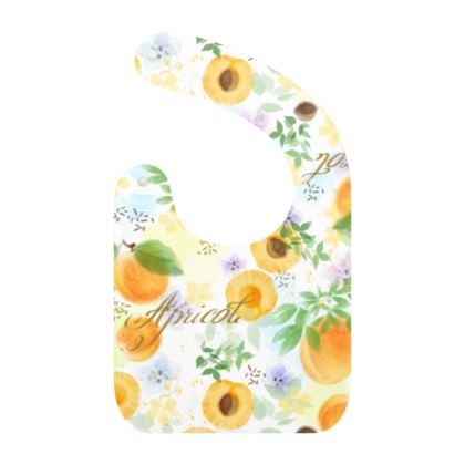 Little sun - Baby Bibs - fruit design, apricots, sunny, orchard, yellow, bright, natural food, garden, hand-drawn floral, summer gift - design by Tiana Lofd