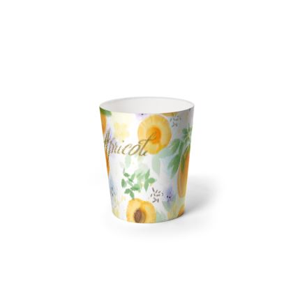 Little sun - Waste Paper Bin - fruit design, apricots, sunny, orchard, yellow, bright, natural food, garden, hand-drawn floral, summer gift - design by Tiana Lofd