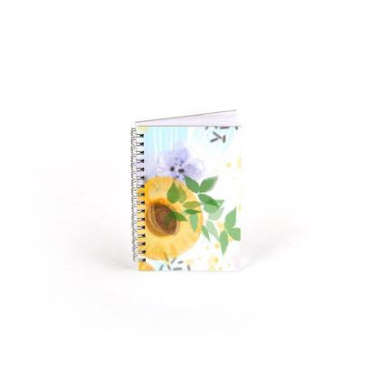 Little sun - Spiral Note Books - fruit design, apricots, sunny, orchard, yellow, bright, natural food, garden, hand-drawn floral, summer gift - design by Tiana Lofd