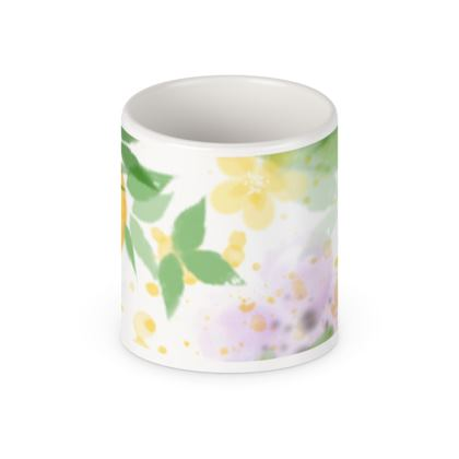 Little sun - Pen Pot - fruit design, apricots, sunny, orchard, yellow, bright, natural food, garden, hand-drawn floral, summer gift - design by Tiana Lofd