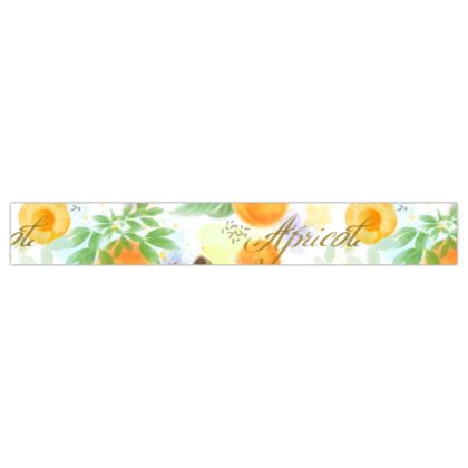 Little sun - Printed Ribbon - fruit design, apricots, sunny, orchard, yellow, bright, natural food, garden, hand-drawn floral, summer gift - design by Tiana Lofd