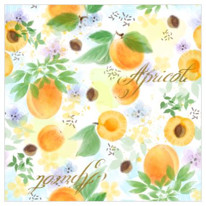 Little sun - Fabric Printing - fruit design, apricots, sunny, orchard, yellow, bright, natural food, garden, hand-drawn floral, summer gift - design by Tiana Lofd
