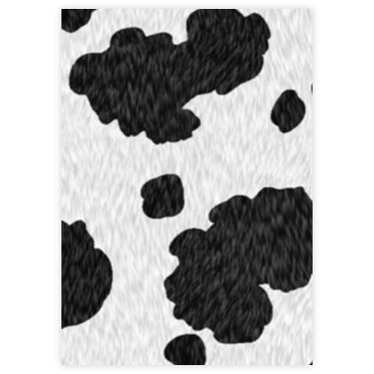 Leather Sample Test Print - 101 -  - Dalmatian coat, spotted dog hair, animal print, black and white spots, puppies, animals, dog lovers gift - design by Tiana Lofd