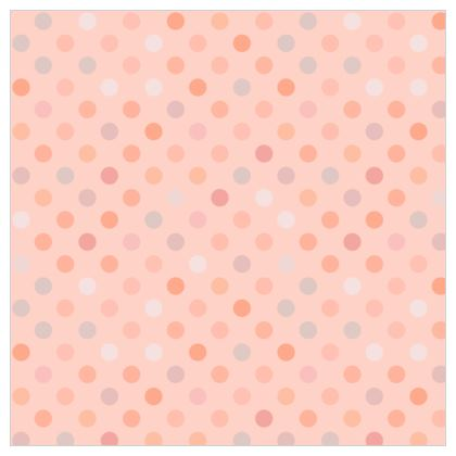 Leather Printing - Silky dots - Peach polka dot, powdery pink and silky, feminine vintage, girly, baby, kids lovely gift - design by Tiana Lofd