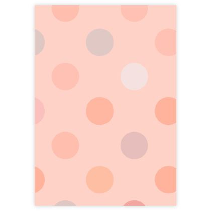 Leather Sample Test Print - Silky dots - Peach polka dot, powdery pink and silky, feminine vintage, girly, baby, kids lovely gift - design by Tiana Lofd