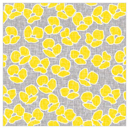 Sun poppies - Leather Printing - Large yellow flowers, gray flax, trendy, bright gift, summer, blooming, floral, gray flax - design by Tiana Lofd