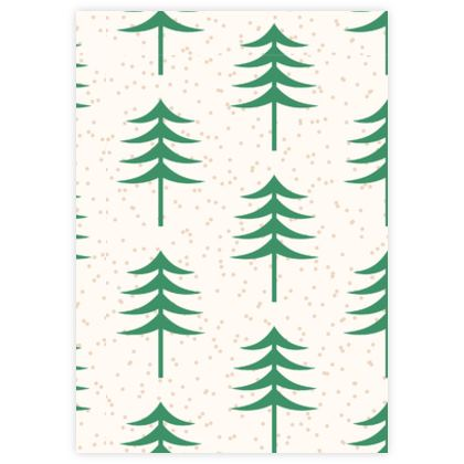 Take a hike - Leather Sample Test Print - Woods, ecological, eco friendly gift, light, green and white, spruce forest, fir-trees, natural, nature, elegant, wildlife, minimalist - design by Tiana Lofd