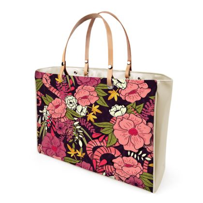 Handbags - hand drawn floral jungle design