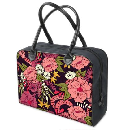 Holdalls - hand drawn floral jungle design