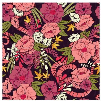Espadrilles - hand drawn floral jungle design