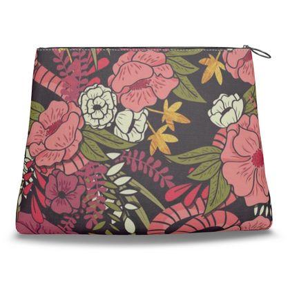 Clutch Bag - hand drawn floral jungle design