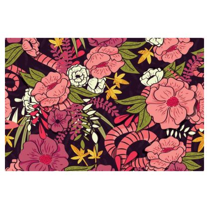 Clutch Bag - hand drawn floral jungle design
