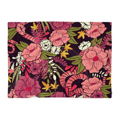Blanket - hand drawn floral jungle design