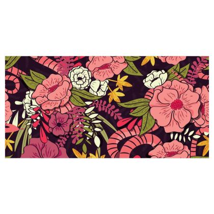 Fabric Printing - hand drawn floral jungle design