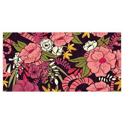 Fabric Printing - hand drawn floral jungle design