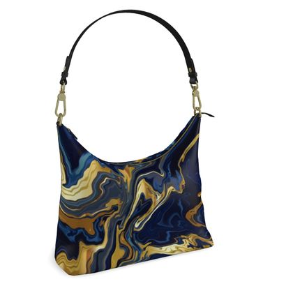 Indigo Ocean Hobo Bag