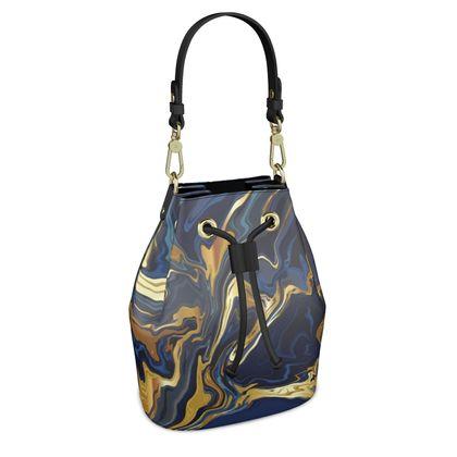 Indigo Ocean Bucket Bag