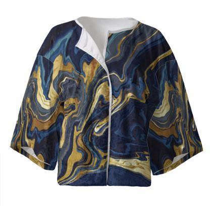 Indigo Ocean Kimono Jacket
