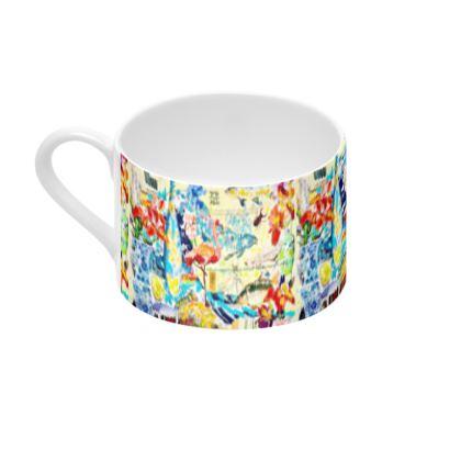 #ninibing34 Tasse und Untertasse aus feinstem Porzellan (2 Stück)